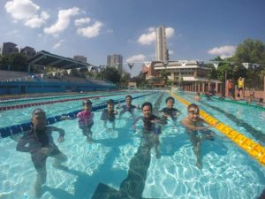 Adult swimming lesson with Swim Central at Ultra